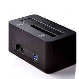 ORICO Super Speed USB 3.0 to SATA HDD Docking Station [ORI-USB-CHG-6619US3-BK] - Black - Hdd Docking